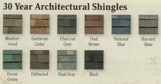 30 Year Architectural Shingles