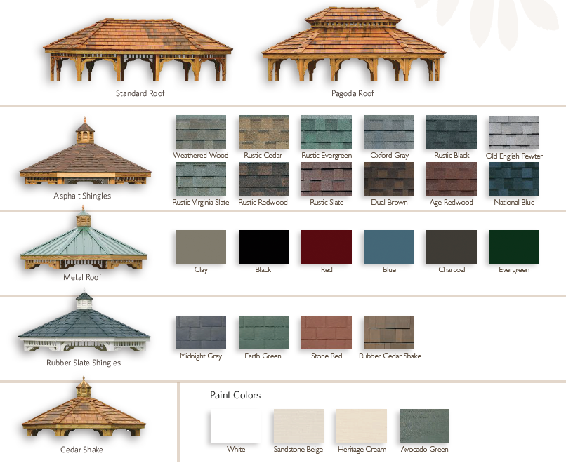 Roof Styles and Colors