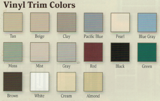 Vinyl Trim Colors