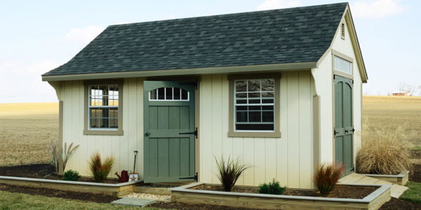 quality amish built shed in maryland with shingle roof